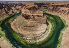 Πεταλοειδής κάμψη στον ποταμό του Κολοράντο στην Αριζόνα ΗΠΑ Στοκ φωτογραφίες με δικαίωμα ελεύθερης χρήσης