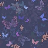 πεταλούδα ανασκόπησης άνευ ραφής Στοκ Εικόνα