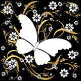 πεταλούδα ανασκόπησης floral Στοκ Φωτογραφίες