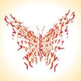 πεταλούδα εννοιολογι& Στοκ φωτογραφία με δικαίωμα ελεύθερης χρήσης