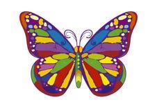 πεταλούδα ζωηρόχρωμη ελεύθερη απεικόνιση δικαιώματος