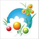 Πεταλούδα λουλουδιών Στοκ εικόνες με δικαίωμα ελεύθερης χρήσης