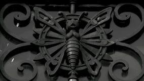 Πεταλούδα σιδήρου στο μπαλκόνι Στοκ Εικόνα