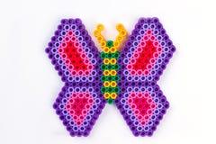 Πεταλούδα χαντρών Perler στοκ φωτογραφία με δικαίωμα ελεύθερης χρήσης