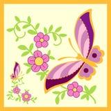 πεταλούδα χρυσή Στοκ εικόνες με δικαίωμα ελεύθερης χρήσης