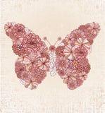 πεταλούδα floral Στοκ Φωτογραφία