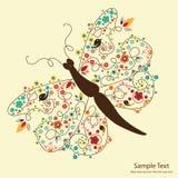 πεταλούδα floral Στοκ εικόνες με δικαίωμα ελεύθερης χρήσης