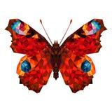 Πεταλούδα Minimalistic στο χαμηλό πολυ ύφος διανυσματική απεικόνιση