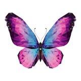 Πεταλούδα Minimalistic στο χαμηλό πολυ ύφος απεικόνιση αποθεμάτων