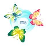 Πεταλούδα Watercolor επίσης corel σύρετε το διάνυσμα απεικόνισης Στοκ φωτογραφία με δικαίωμα ελεύθερης χρήσης