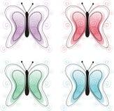 πεταλούδες διακοσμητ&iota Απεικόνιση αποθεμάτων