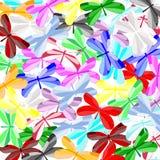 πεταλούδες ζωηρόχρωμες Διανυσματική απεικόνιση