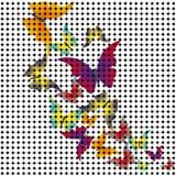 Πεταλούδες που προέρχονται από το μωσαϊκό. Διάνυσμα Στοκ Εικόνες