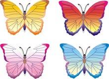 πεταλούδες που τίθενται Στοκ φωτογραφία με δικαίωμα ελεύθερης χρήσης