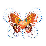 πεταλούδα τυποποιημένη Στοκ Εικόνες