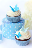 πεταλούδα cupcakes Στοκ φωτογραφίες με δικαίωμα ελεύθερης χρήσης
