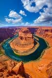Πεταλοειδής μαίανδρος κάμψεων της Αριζόνα του ποταμού του Κολοράντο στοκ εικόνες με δικαίωμα ελεύθερης χρήσης