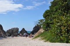 Πεταλοειδής παραλία κόλπων στις Βερμούδες Στοκ εικόνες με δικαίωμα ελεύθερης χρήσης