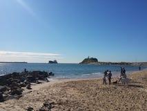 Πεταλοειδής παραλία, Νιουκάσλ Αυστραλία Στοκ φωτογραφία με δικαίωμα ελεύθερης χρήσης