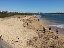 Πεταλοειδής παραλία, Νιουκάσλ Αυστραλία Στοκ Φωτογραφία