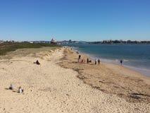 Πεταλοειδής παραλία, Νιουκάσλ Αυστραλία Στοκ φωτογραφίες με δικαίωμα ελεύθερης χρήσης