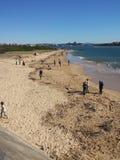 Πεταλοειδής παραλία, Νιουκάσλ Αυστραλία Στοκ Εικόνες
