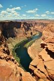 πεταλοειδής ποταμός ΗΠΑ της Αριζόνα Κολοράντο Στοκ Εικόνες