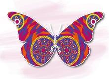 Πεταλούδα, διακοσμητική ζωγραφική Στοκ εικόνα με δικαίωμα ελεύθερης χρήσης