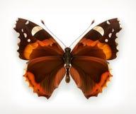 Πεταλούδα, διανυσματικό εικονίδιο Στοκ Εικόνες