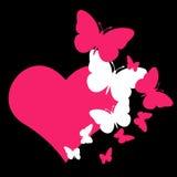 Πεταλούδα καρδιών στοκ φωτογραφία