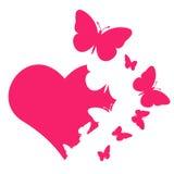 Πεταλούδα καρδιών στοκ φωτογραφία με δικαίωμα ελεύθερης χρήσης