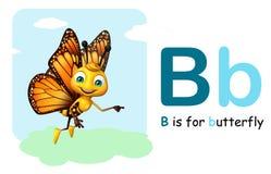 Πεταλούδα με το alphabate Στοκ εικόνα με δικαίωμα ελεύθερης χρήσης
