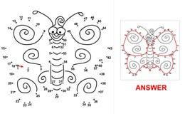 Πεταλούδα - παιχνίδι σημείων Στοκ φωτογραφία με δικαίωμα ελεύθερης χρήσης