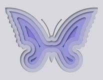 Πεταλούδα που κόβεται όμορφη από το έγγραφο Στοκ Εικόνες
