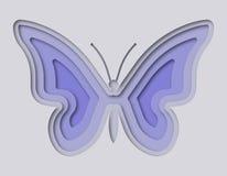 Πεταλούδα που κόβεται όμορφη από το έγγραφο Στοκ Φωτογραφία
