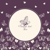 Πεταλούδα στον κύκλο Στοκ Φωτογραφίες