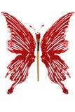 Πεταλούδα φιαγμένη από χρώμα και πινέλο Στοκ Φωτογραφίες