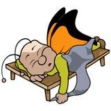 Πεταλούδα ύπνου Στοκ Φωτογραφία