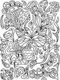 πεταλούδα zentangle Στοκ φωτογραφία με δικαίωμα ελεύθερης χρήσης