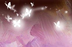 Πεταλούδες ελεύθερες κατά την πτήση διανυσματική απεικόνιση
