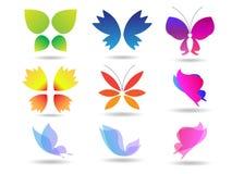 πεταλούδες ζωηρόχρωμες Στοκ Εικόνες