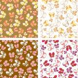 Πεταλούδες στα χρώματα κρητιδογραφιών Στοκ εικόνα με δικαίωμα ελεύθερης χρήσης