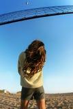 πετοσφαίριση παραλιών στοκ φωτογραφία με δικαίωμα ελεύθερης χρήσης
