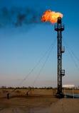 πετρέλαιο αερίου φλογών Στοκ Φωτογραφία