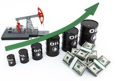 πετρέλαιο βαρελιών βελών Στοκ εικόνα με δικαίωμα ελεύθερης χρήσης