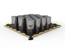 πετρέλαιο βαρελιών Στοκ Εικόνα