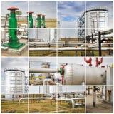 πετρέλαιο βιομηχανίας φ&upsilo βιομηχανικός Κατασκευαστικό κολάζ φωτογραφιών Στοκ εικόνες με δικαίωμα ελεύθερης χρήσης