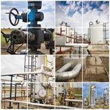 πετρέλαιο βιομηχανίας φ&upsilo βιομηχανικός Κατασκευαστικό κολάζ φωτογραφιών Στοκ φωτογραφία με δικαίωμα ελεύθερης χρήσης