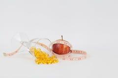 πετρέλαιο γυαλιού ψαριών μήλων λεπτό Στοκ Εικόνα