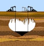 πετρέλαιο εκχύλιής βιομ&eta διανυσματική απεικόνιση